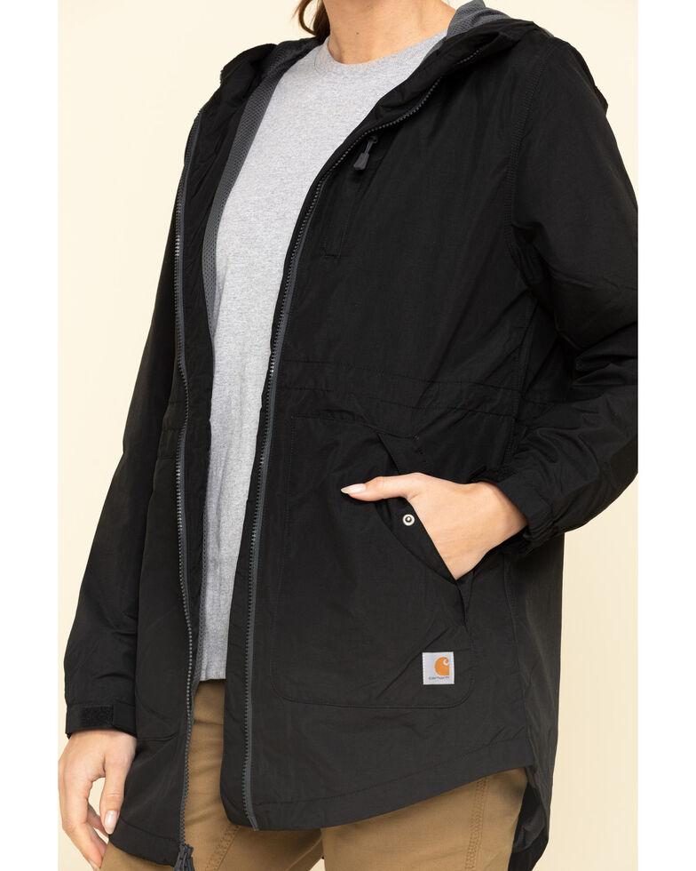 Carhartt Women's Black Rain Defender Nylon Coat  , Black, hi-res