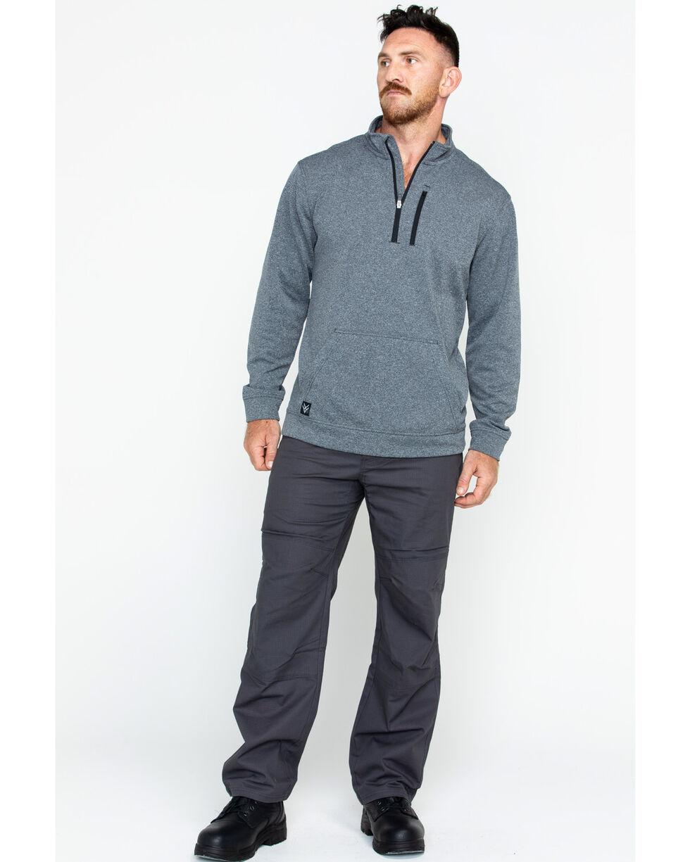 Hawx Men's Solid 1/4 Zip Work Pullover , Charcoal, hi-res