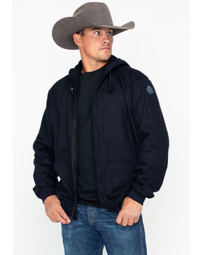 NSA Men's Heavyweight Pullover FR Work Hoodie - 2X-3X , Navy, hi-res