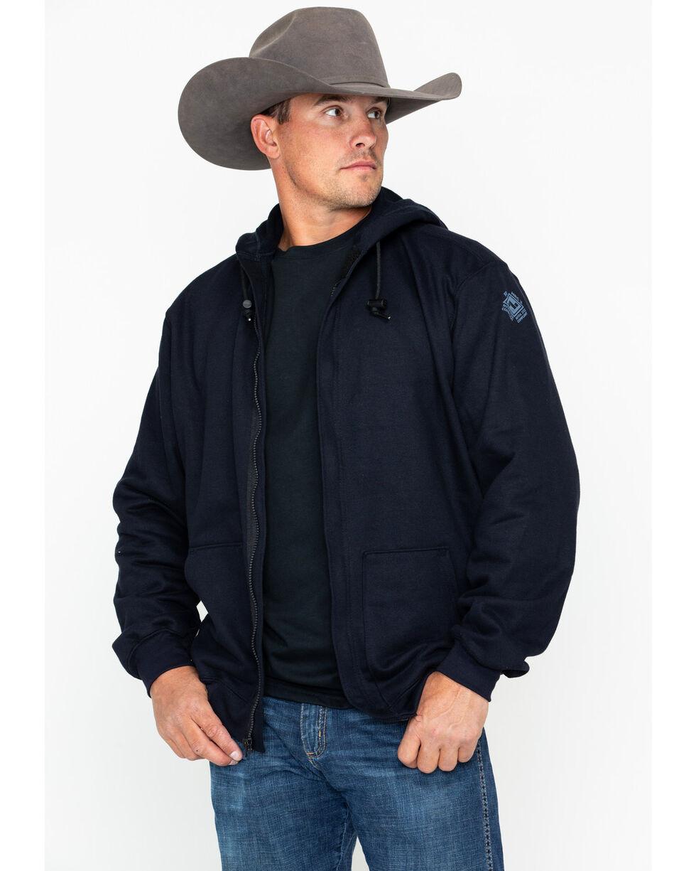 NSA Men's Heavyweight Pullover FR Work Hoodie - 2X-3X , Navy, hi-res
