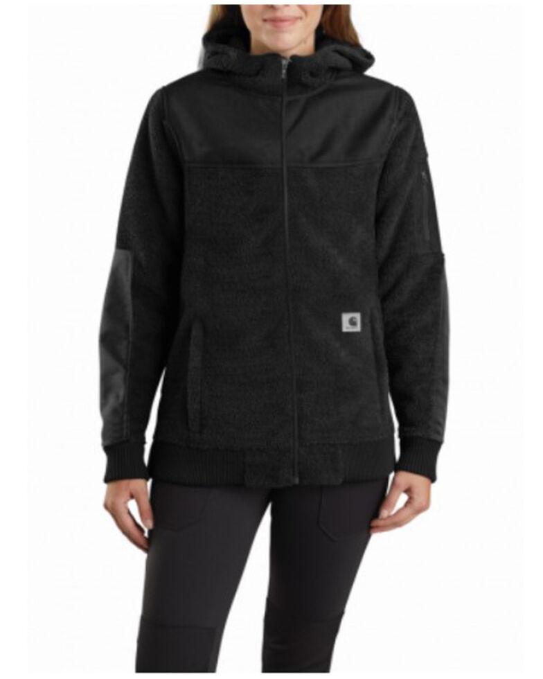Carhartt Women's Black Yukon Extremes Wind Fighter Fleece Active Jacket , Black, hi-res