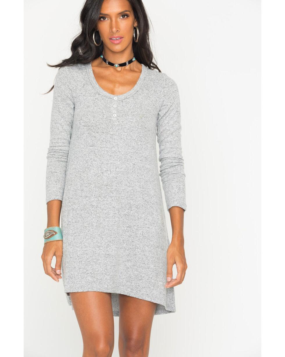 Z Supply Women's Grey Marled Sweater Dress , Hthr Grey, hi-res