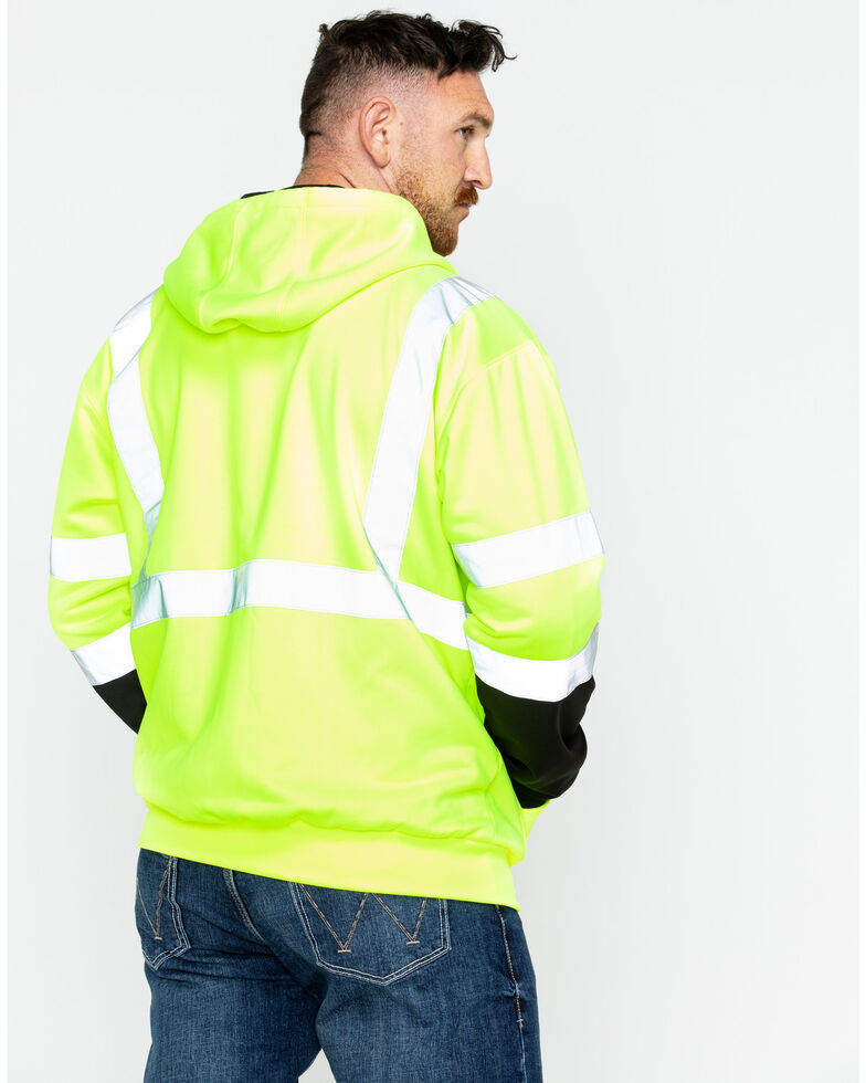 Hawx Men's Soft Shell Visibility Safety Jacket, Yellow, hi-res