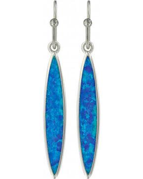 Montana Silversmiths Women's Marquis Opal Earrings, Silver, hi-res