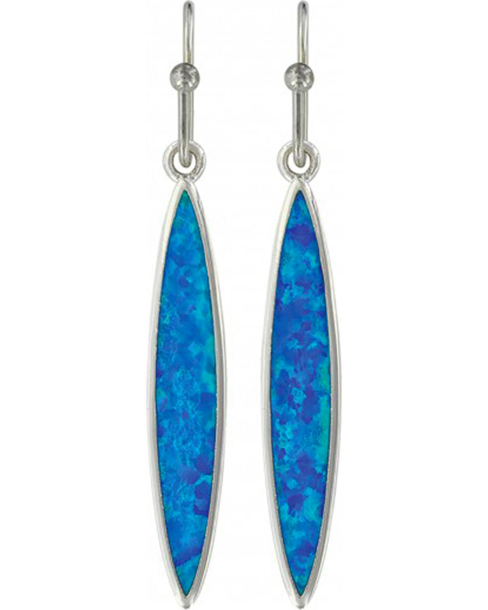 Montana Silversmiths Women's Marquis Opal Earrings, Silver, hi-res