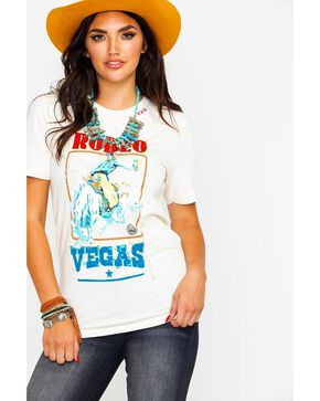 Bohemian Cowgirl Women's Rodeo Vegas Graphic Tee , Cream, hi-res