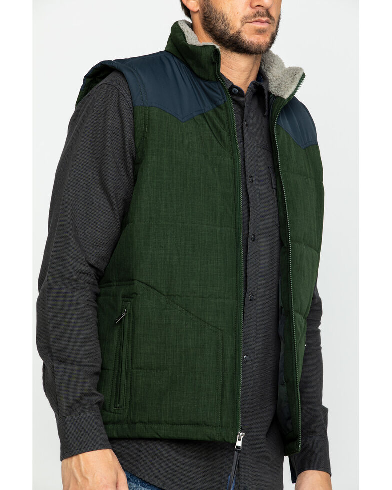 Cody James Core Men's Southerner Two Tone Puffer Vest - Tall , Brown, hi-res