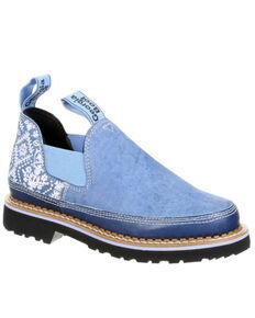Georgia Boot Women's Giant Blue Denim Romeo Shoes - Round Toe, Indigo, hi-res