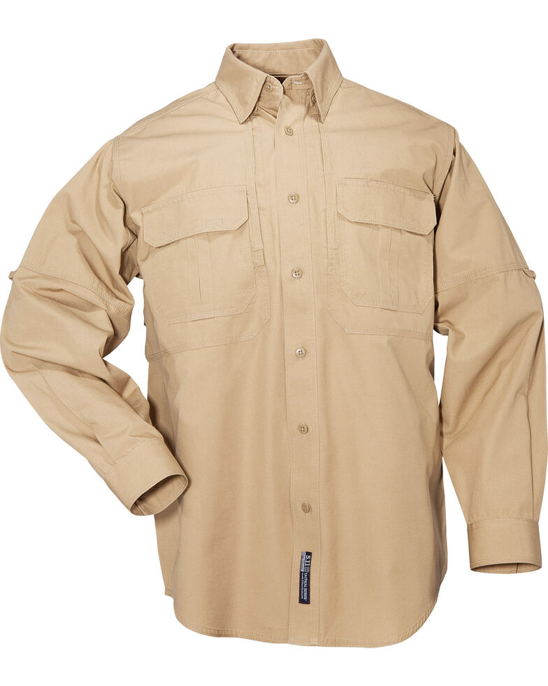 5.11 Tactical Long Sleeve Cotton Shirt - 3XL, Coyote Brown, hi-res
