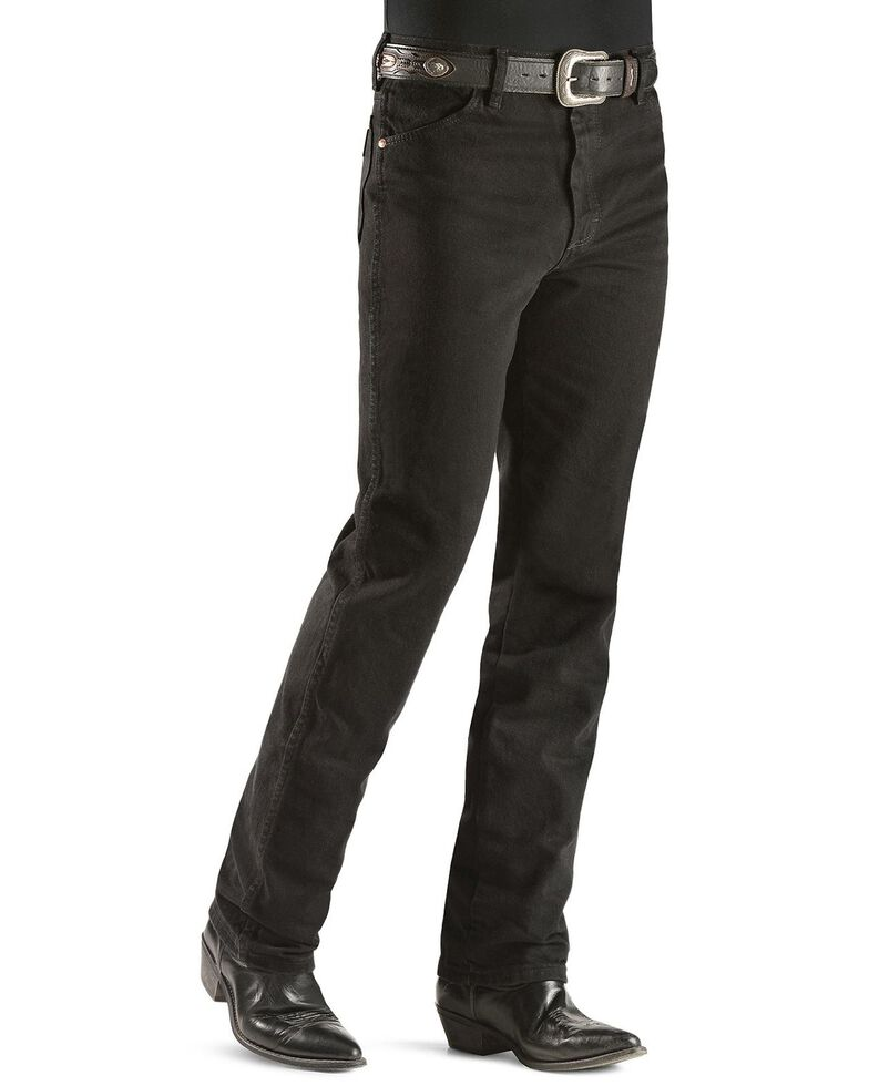 Wrangler Men's Slim Fit 936 Cowboy Cut Jeans, Shadow Black, hi-res