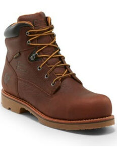 Chippewa Men's Colville Waterpoof Work Boots - Composite Toe, Brown, hi-res