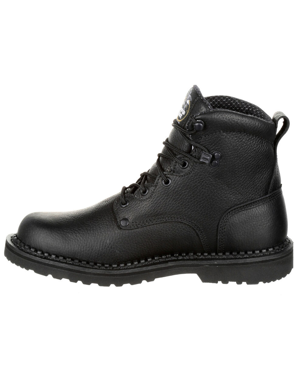 Georgia Boot Men's Giant Waterproof Work Boots - Steel Toe, Black, hi-res