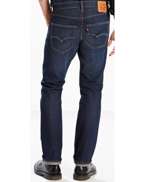 Levi's Men's Blue 501 Original Fit Anchor Stretch Jeans - Straight Leg, Blue, hi-res