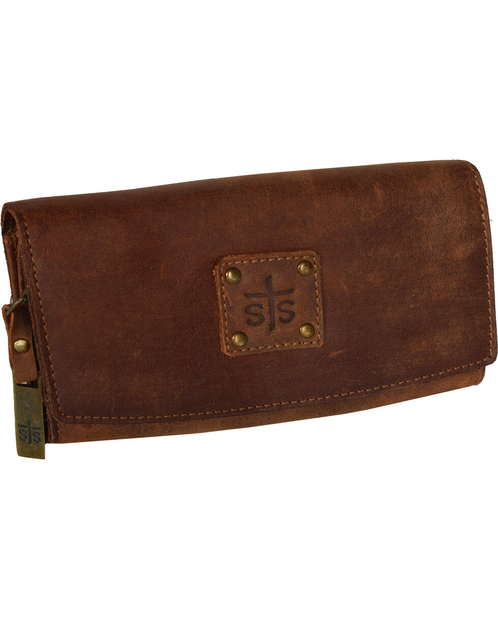 STS Ranchwear by Carroll Women's Baroness Tri-Fold Wallet , Brown, hi-res