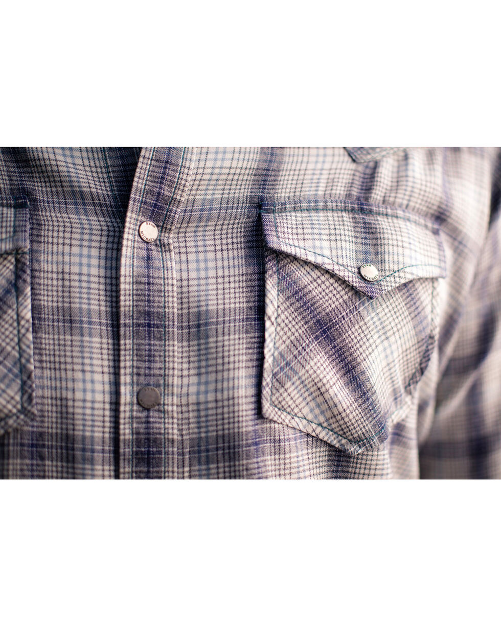 Ryan Michael Vintage Jaspe Plaid Western Shirt, Ivory, hi-res