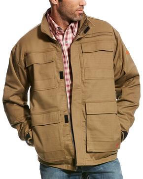 Ariat Men's Beige FR Canvas Stretch Jacket , Beige/khaki, hi-res