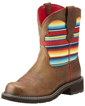 Ariat Women's Heritage Twill Western Boots - Round Toe, Brown, hi-res