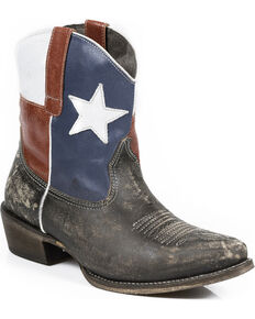 Roper Women's Texas Beauty Ankle Boots, Brown, hi-res