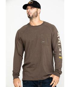 Ariat Men's Moss Green Rebar Cotton Strong Long Sleeve Work Shirt , Moss Green, hi-res