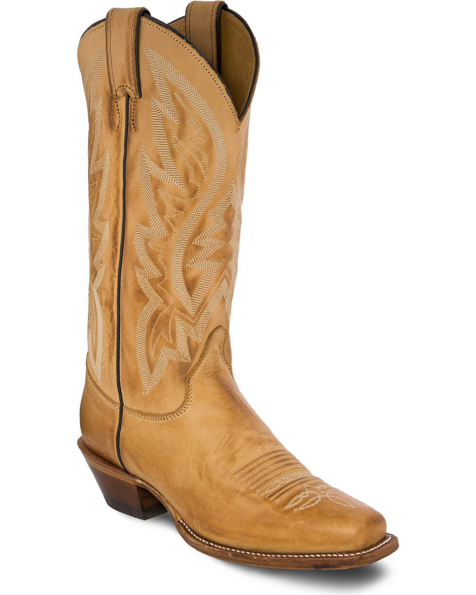 Justin Women's Golden Bent Rail Western Boots, Gold, hi-res