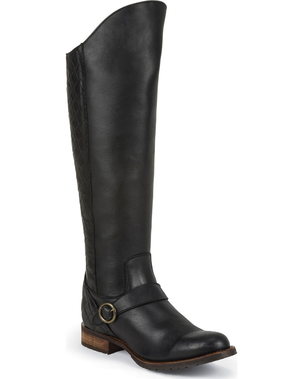 "Justin Women's 17"" Fashion Boots, Black, hi-res"