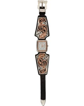 Montana Silversmiths Women's Rose Gold & Silver Watch, Silver, hi-res
