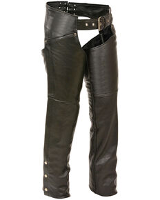 Milwaukee Leather Women's Black Classic Hip Chaps , Black, hi-res