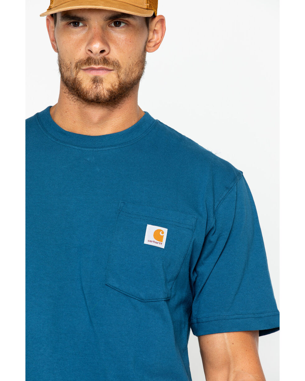 Carhartt Short Sleeve Pocket Work T-Shirt, Blue Stone, hi-res