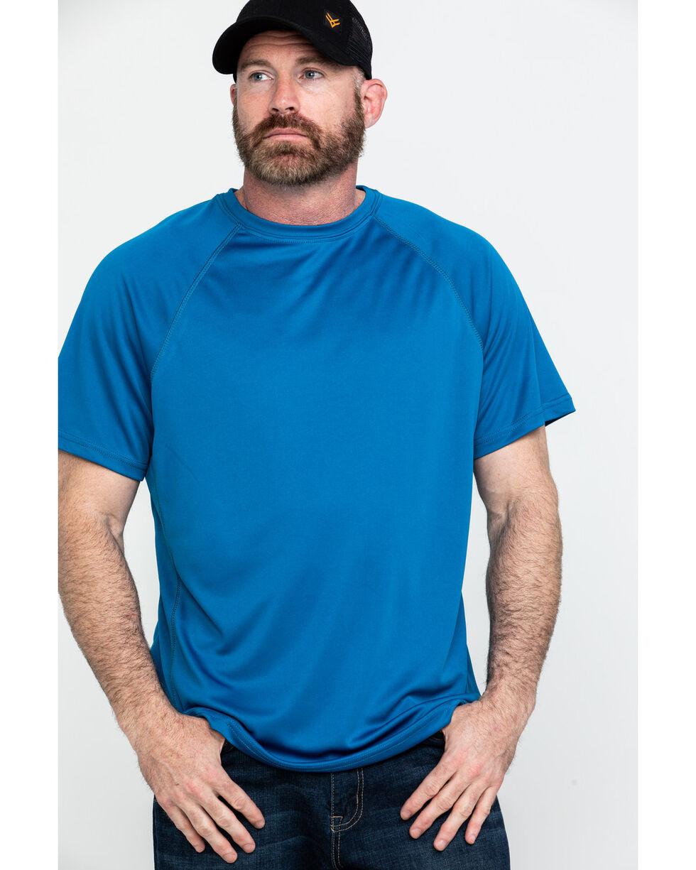 Hawx Men's Blue Solid Performance Work T-Shirt , Blue, hi-res