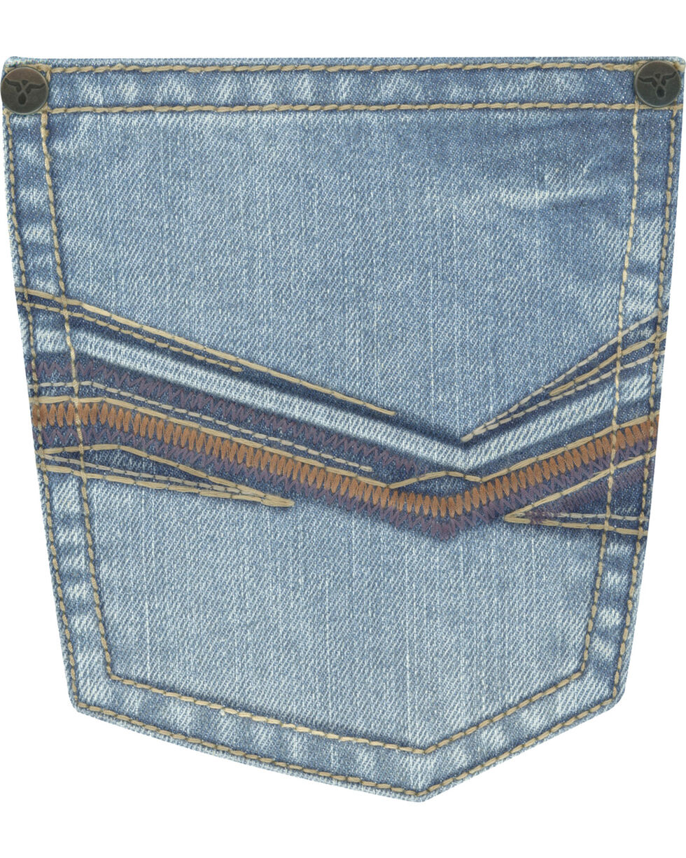 Wrangler 20X Men's Blue No. 33 Relaxed Fit Jeans - Straight Leg , Medium Blue, hi-res