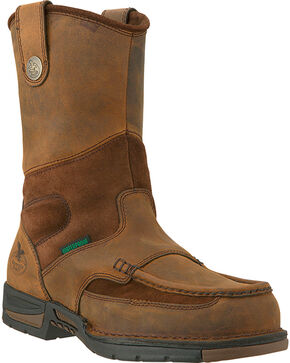 Georgia Men's Athens Steel Toe Wellington Boots, Brown, hi-res