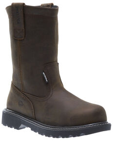 Wolverine Women's Floorhand Waterproof Western Work Boots - Steel Toe, Brown, hi-res