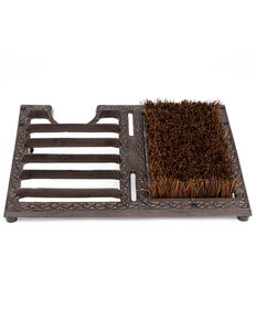 Boot Barn Ranch Cast Iron Boot Jack & Brush, Brown, hi-res