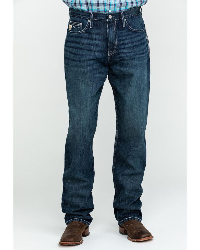 Cinch Men's Sawyer Rinse Loose Bootcut Jeans , Indigo, hi-res