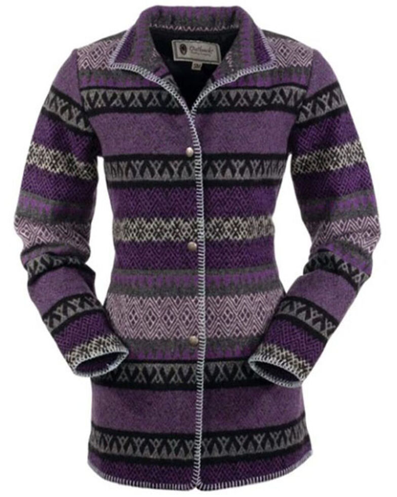 Outback Trading Co. Women's Purple Moree Jacket, Purple, hi-res