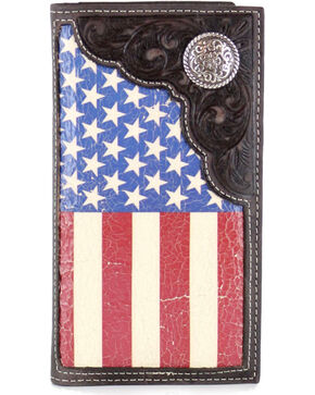 Cody James® American Flag Rodeo Wallet/Checkbook Cover, Tan, hi-res