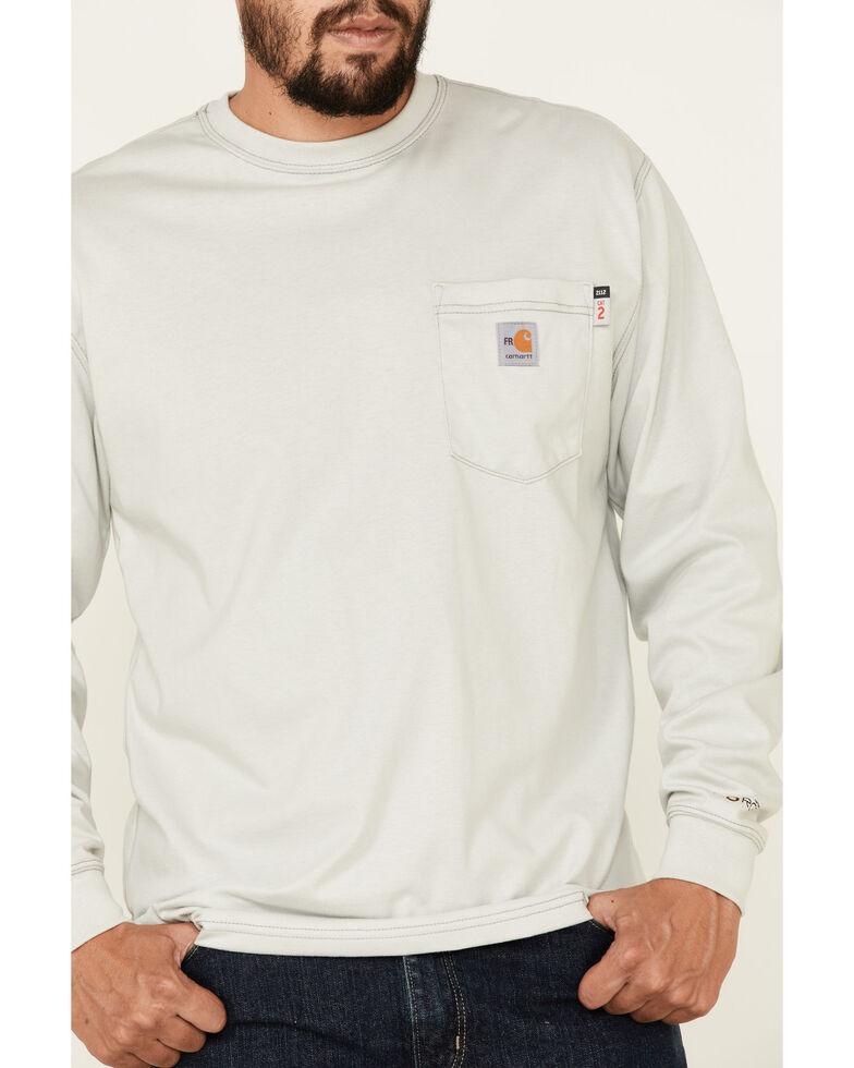 Carhartt Long Sleeve Pocket Fire Resistant Work Shirt, Grey, hi-res