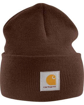 Carhartt Acrylic Stocking Cap, Dark Brown, hi-res