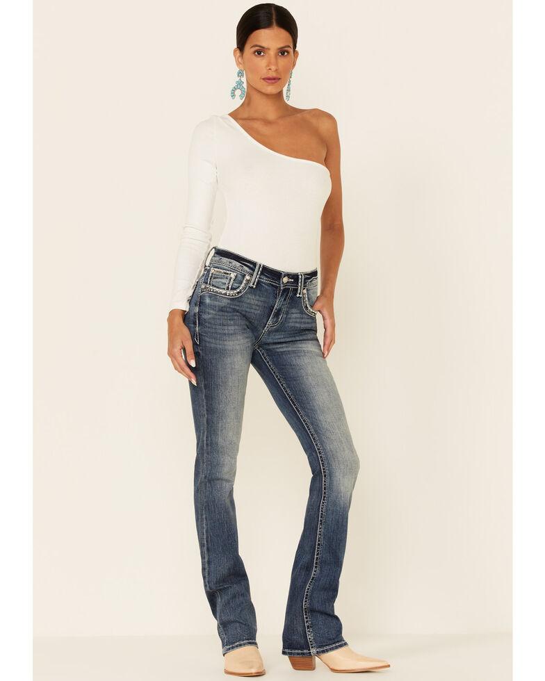 Grace in LA Women's Bullhead Easy Bootcut Jeans, Blue, hi-res