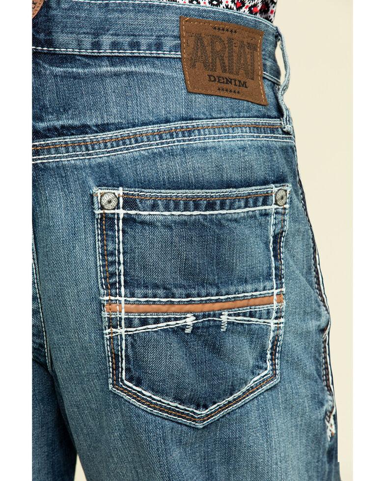 Ariat Men's M4 Coltrane Durango Low Rise Fashion Boot Cut Jeans, Denim, hi-res