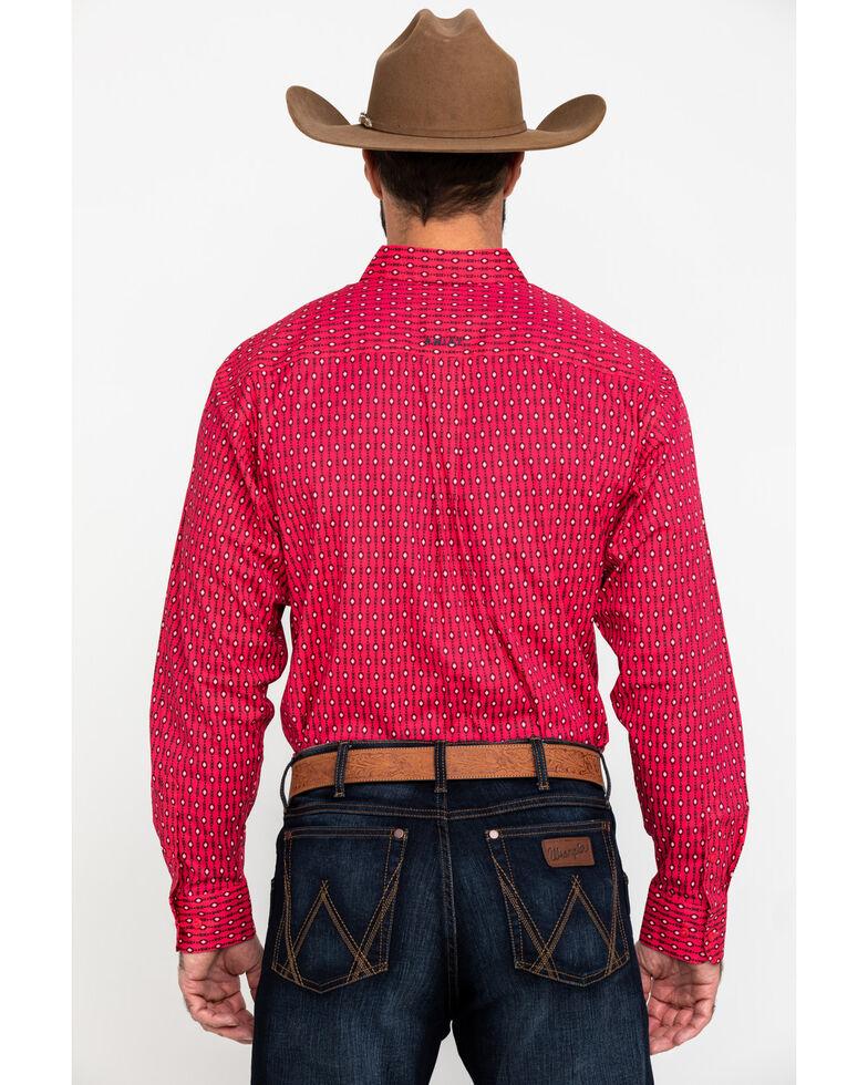Ariat Men's Kilgore Aztec Print Long Sleeve Western Shirt - Tall , Red, hi-res