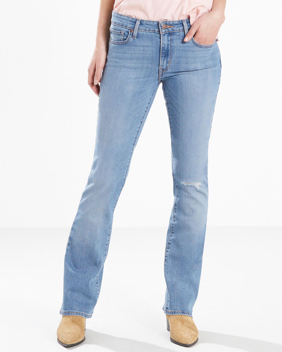 Levi's Women's 715 Wash Out Vintage Bootcut Jeans, Indigo, hi-res