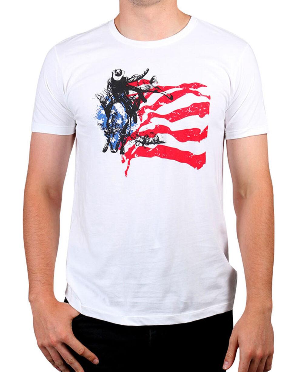 Cody James® Men's American Rodeo Rider Graphic Tee, White, hi-res