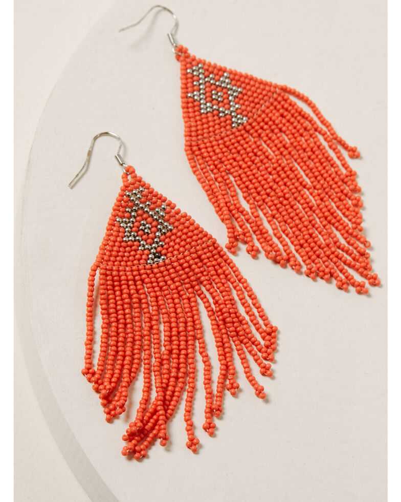 Idyllwind Women's Beaded You To It Pink Earrings, Coral, hi-res