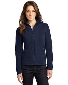 Eddie Bauer Women's Navy 2X Micro-Fleece Full-Zip Jacket - Plus, Navy, hi-res