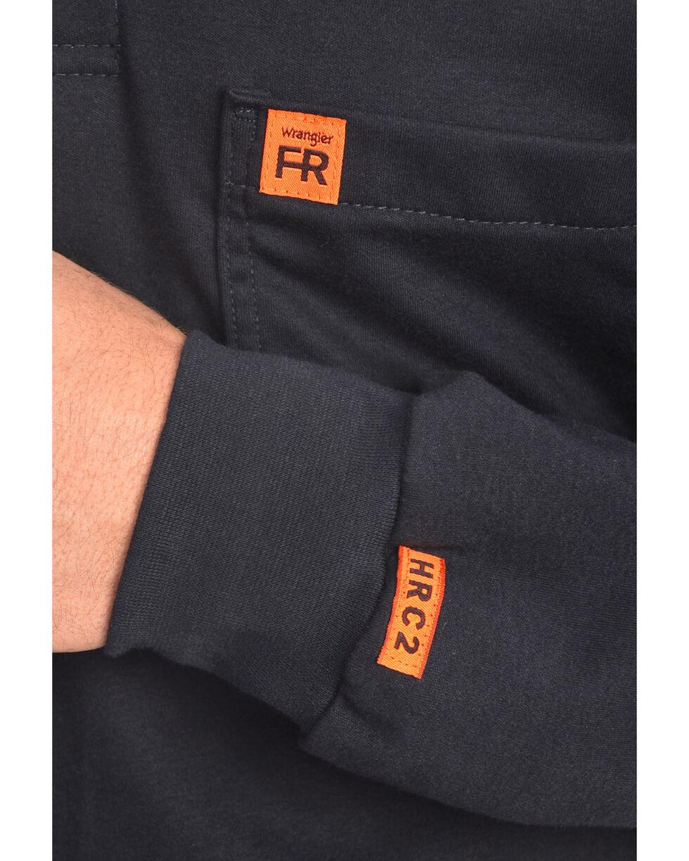 Wrangler Men's Flame Resistant Long Sleeve Henley, Navy, hi-res