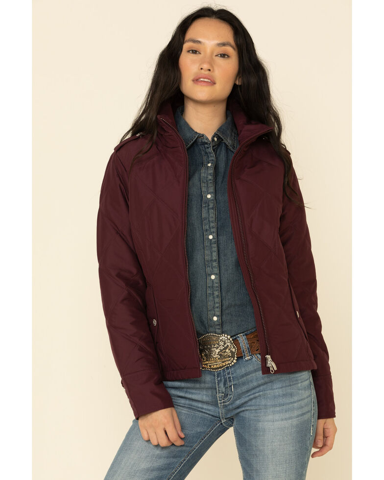 Ariat Women's Burgundy Terrace Jacket , Burgundy, hi-res