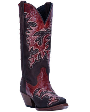 Dan Post Women's O-Lay Lucie Western Boots - Snip Toe, Brown, hi-res