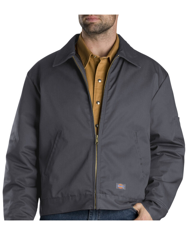 Dickies  Insulated Eisenhower Jacket - Big & Tall, Charcoal Grey, hi-res