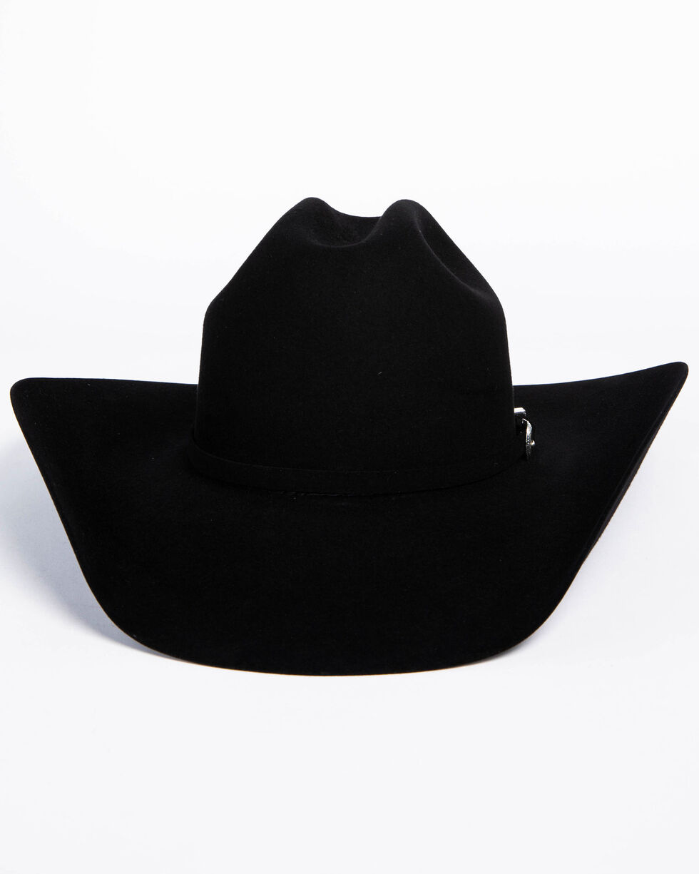 American Hat Co. Men's 7X Black Self Buckle Felt Cowboy Hat, Black, hi-res